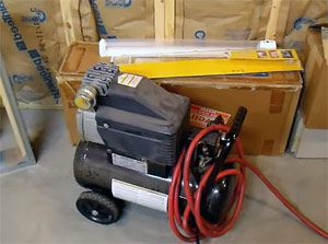 for blow out services our team uses an air compressor